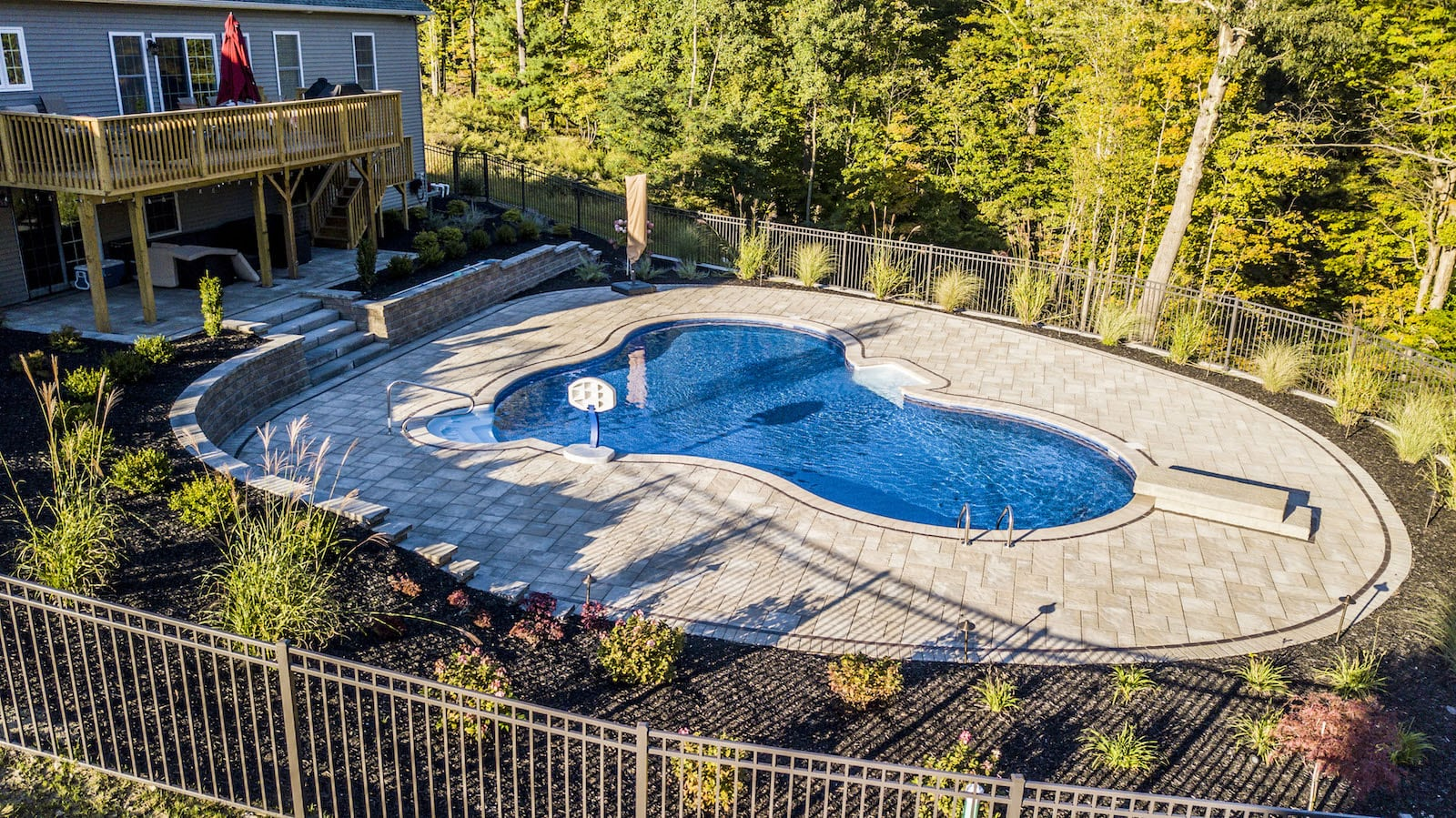 Landscape design backyard pool